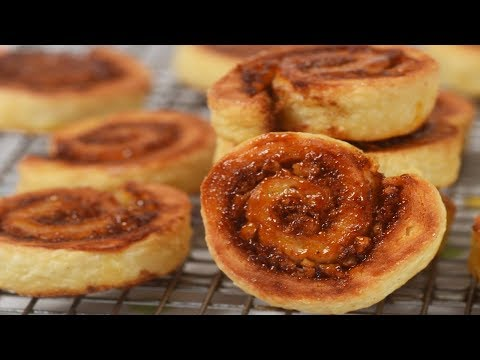 Cinnamon Roll Cookies (Rugelach)  Recipe Demonstration - Joyofbaking.com