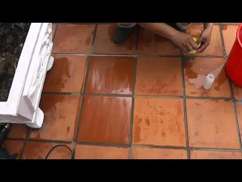 Applying Sealer to Enrich the Terracotta Tiles @ Vietnam Hotel