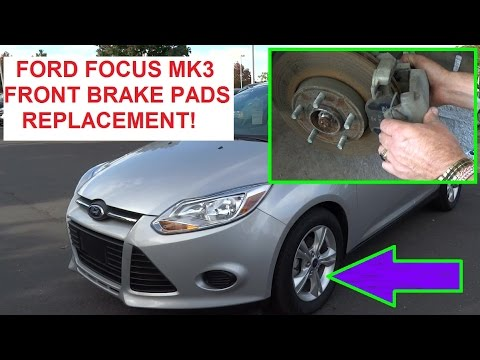 Front Brake Pads Replacement Ford Focus 2012 2013 2014 2015  How to replace the Front Brakes