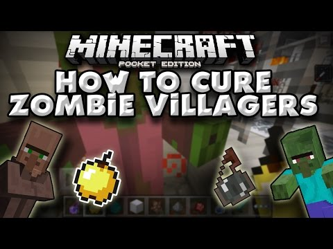 How To Cure A Zombie Villager in Minecraft PE [Pocket Edition]