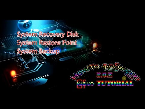 Windows PC အတြက္ Recovery Disk/Restore Point/ Backup လုပ္နည္း