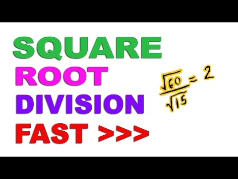 Algebra: Square Roots division Fast - Hindi (2016)