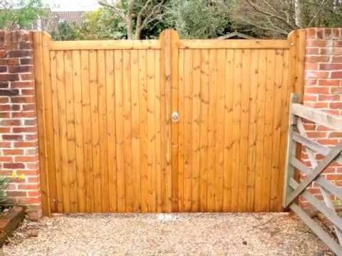 Wooden gates by