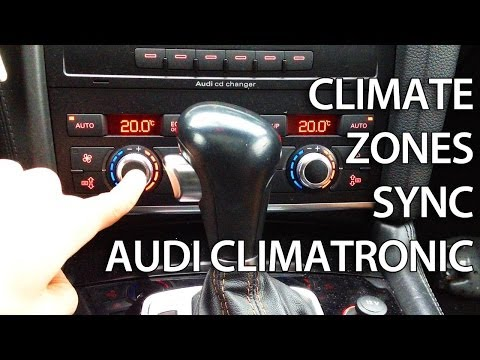How to activate climate zone sync in Audi Climatronic (A4 A5 A6 A7 A8 Q5 Q7)