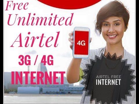 Airtel Free Internet Unlimited Trick 2017 , How to use free internt on airtel sim