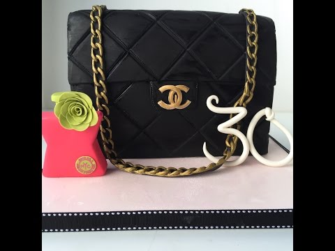 How to make a Chanel Purse Cake