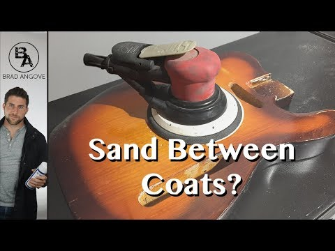 Do you need to sand between coats of paint?