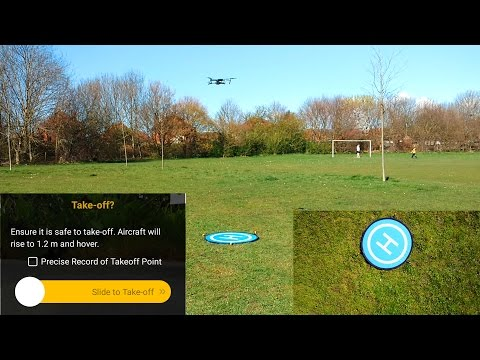 DJI Mavic Pro Precision landing on landing pad