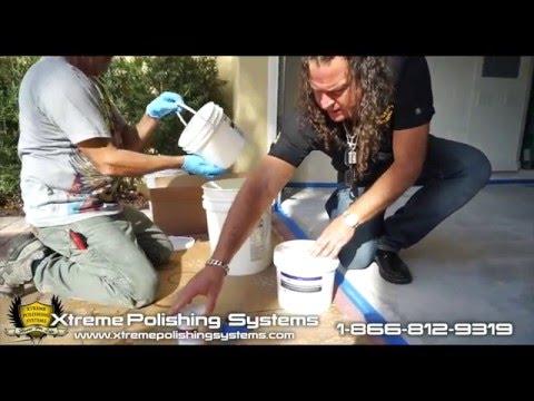 DIY Epoxy Garage Floor Application (Gold Glitter/ Red Base)