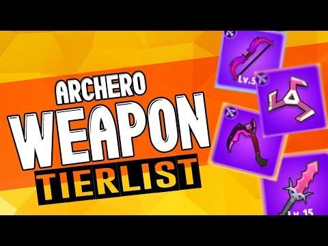 ARCHERO: Weapon Tierlist | BEST & WORST Weapon? | Pros vs