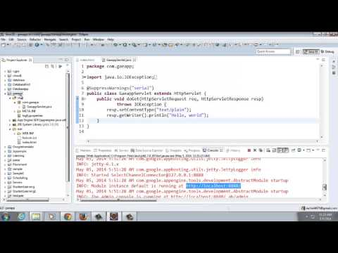 Deploying a Simple Google App Engine application using Java