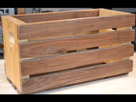 How To Build // DIY Simple Wooden Crate
