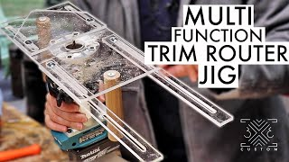 6-IN-1 TRIM Router Jig -  freehand routing, inlays, edge-banding, mortises, dados, circles & more!