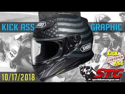 STG Kick Ass Helmet Graphic of the Week 10/17/2018 | Sportbike Track Gear