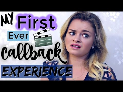 My FIRST Callback Audition Experience!