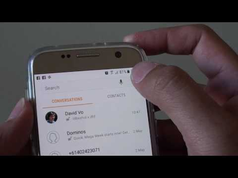 Samsung Galaxy S7: How to Enable / Disable SMS Text Messaging Notification