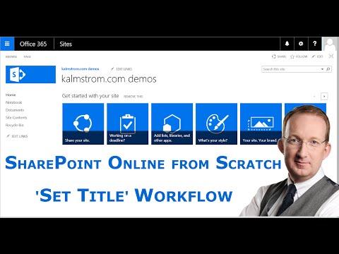 SharePoint 'Set Title' Workflow