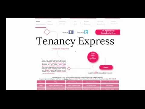 How to create a Tenancy Agreement with Tenancy Express