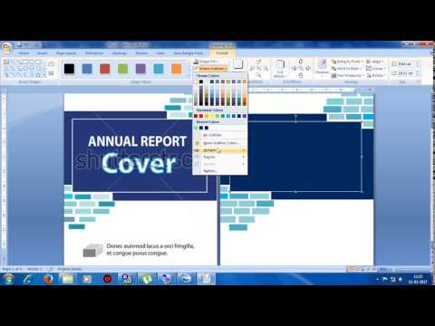 Designing Cover Page in MS Word 2007