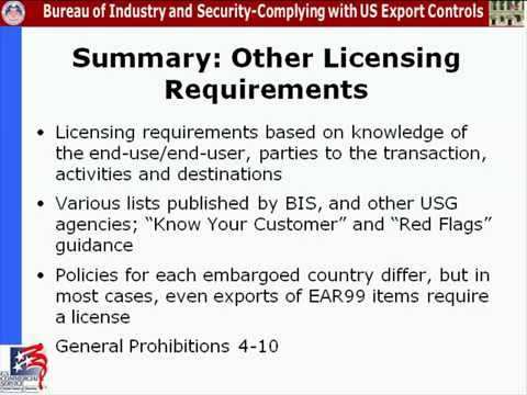 4. Compliance Webinar: Determining License Requirements - ECCN/Destination, End-user/End-Use