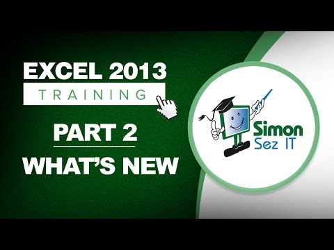 Excel 2013 for Beginners Part 2: What's New in Excel 2013