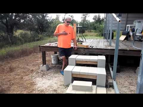 Patio Steps...Cheap and Easy