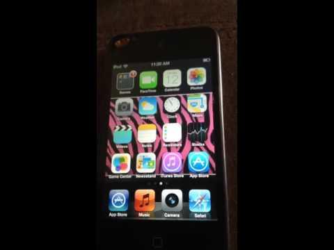 Turned my iPod4 iOS 6.1.6 into a iOS 7
