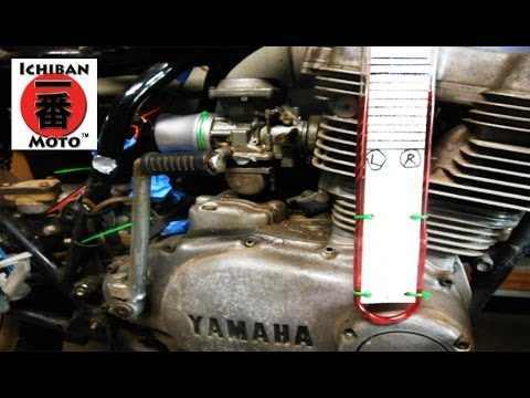 How to syncronize motorcycle  carburetor balancing with  Vacuum Manometer  Tool  on a  café racer
