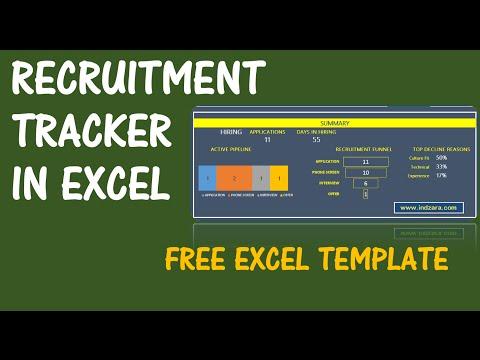 Recruitment Tracker Spreadsheet - Free HR Excel Template - v1