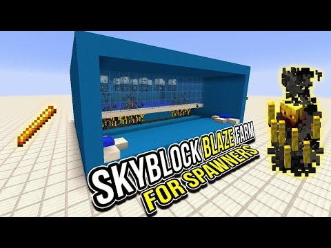 Minecraft Tutorial   Modern Blaze Farm For SkyBlock