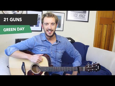 21 Guns - Green Day Guitar Lesson/ Tutorial - How To Play on Guitar