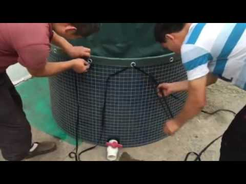 New Video steel mesh water tank 1000L,water storage tank fish tank