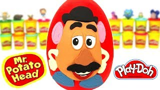 Huevo Sorpresa Gigante del Señor Cara de Papa de Plastilina Play Doh