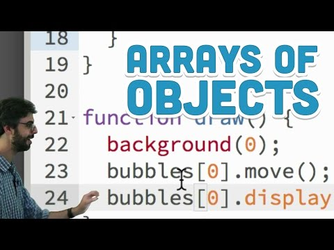 7.3: Arrays of Objects - p5.js Tutorial