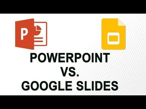PowerPoint vs. Google Slides (2018)