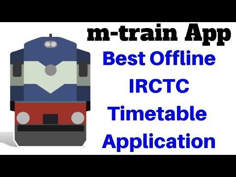 m-train App Review | Best Offline IRCTC Timetable Application | Seat Availability | PNR Status