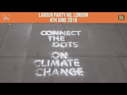 Labour HQ spray painted by Heathrow activists