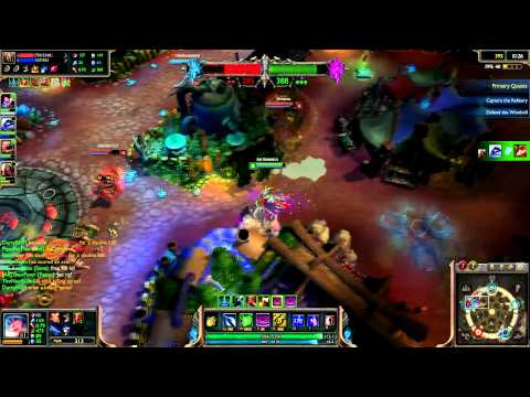 League of Legends -- Dominion Christmas Gaming - Silent Night Sona Owning