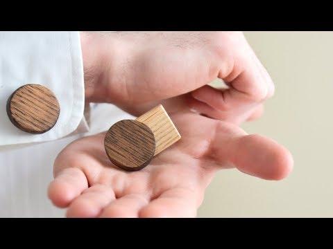 DIY Wooden Cufflinks | Accessories