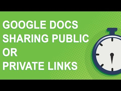 Google Docs Sharing Public or Private Links (2016)