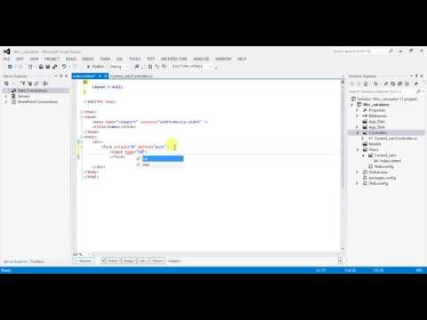 Using ASP NET WITH MVC CREATE CALCULATOR PART 1
