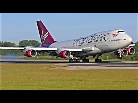 Incredible Close Up Heavy Landings at Manchester Airport | 06/06/18