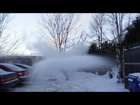 Instant Snow Machine: Turning Boiling Water into Snow at -8 °F