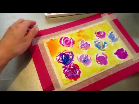 Learn watercolor to end up fail, asmr?
