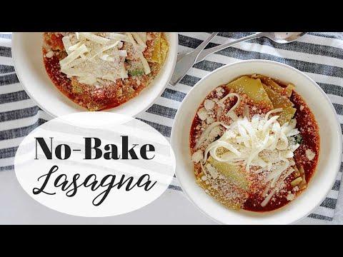 No Bake Lasagna   Easy Lasagna Recipe   Meal Prep
