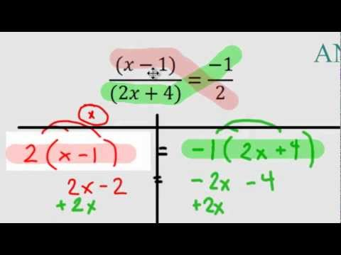 Algebra - Solving Harder Equations with Ratios (Fractions)