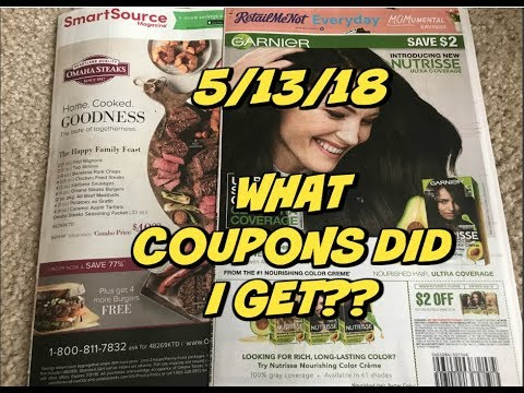 5/13/18 ~ WHAT COUPONS DID I GET?