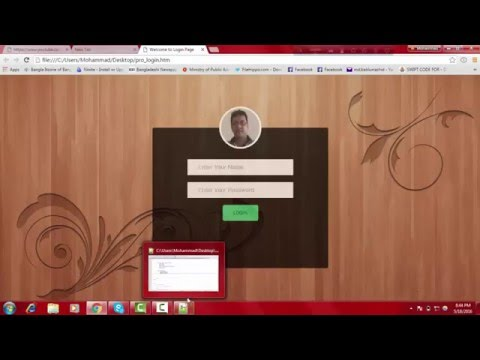 HTML CSS & JavaScript Tutorial For Beginners Part 7 : Design Login Form With CSS
