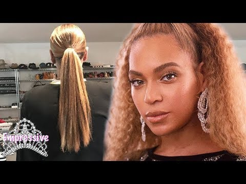 Beyonce reveals her long natural hair! Yonce with the #GOODHAIR