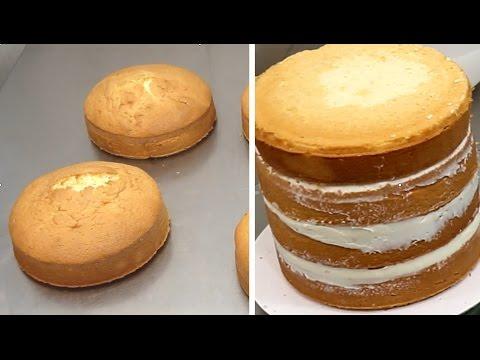 Vanilla Sponge Cake Recipe - How To by CakesStepbyStep